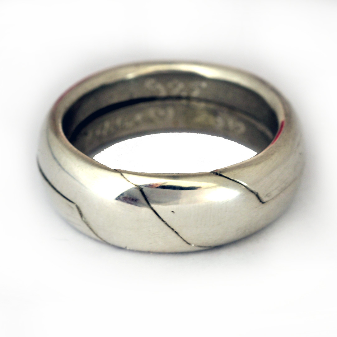 Blessing Puzzle Ring,sterling Silver,size By Order on Luulla